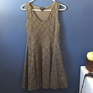 Olive Green Lace Dress
